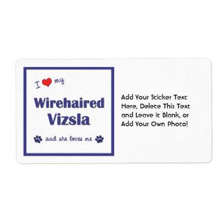 Amo mi Vizsla Wirehaired (el perro femenino) Etiquetas De Envío