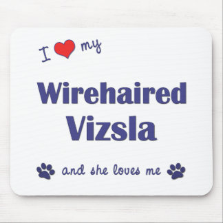 Amo mi Vizsla Wirehaired (el perro femenino) Alfombrillas De Ratones