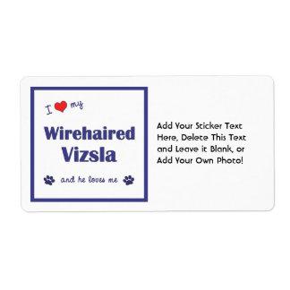 Amo mi Vizsla Wirehaired (el perro masculino) Etiquetas De Envío