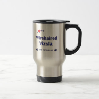 Amo mi Vizsla Wirehaired (el perro masculino) Taza De Café