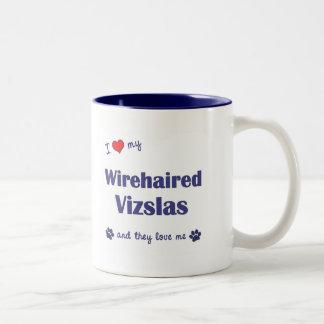 Amo mi Vizslas Wirehaired (los perros múltiples) Tazas