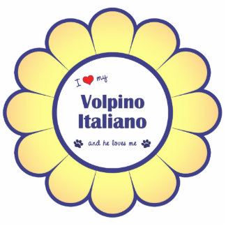 Amo mi Volpino Italiano (el perro masculino) Escultura Fotografica