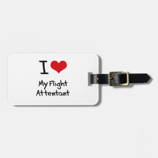 Amo mi vuelo Attentant Etiqueta De Equipaje