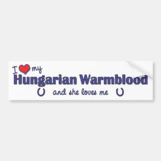 Amo mi Warmblood húngaro (el caballo femenino) Pegatina Para Auto
