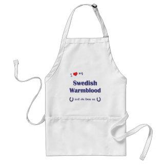 Amo mi Warmblood sueco (el caballo femenino) Delantal