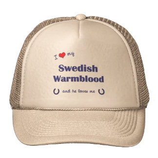 Amo mi Warmblood sueco (el caballo masculino) Gorras