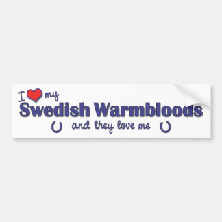 Amo mi Warmbloods sueco (los caballos múltiples) Pegatina De Parachoque
