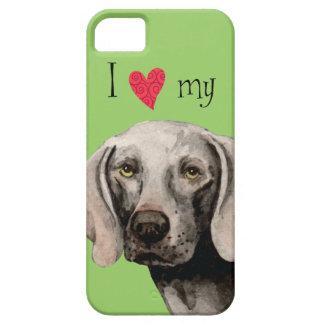 Amo mi Weimaraner iPhone 5 Case-Mate Protectores