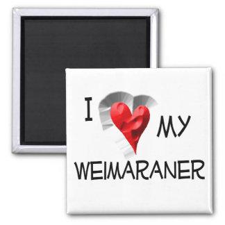 Amo mi Weimaraner Imán Cuadrado