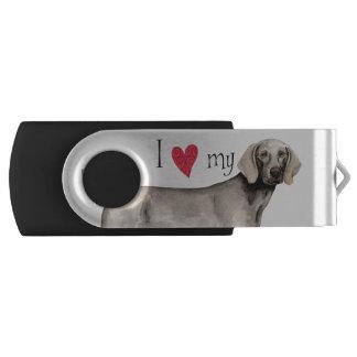 Amo mi Weimaraner Memoria USB