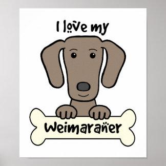 Amo mi Weimaraner Posters