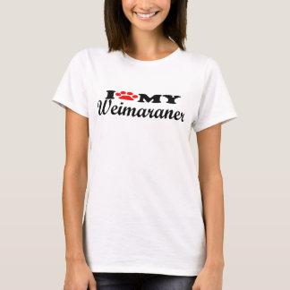 Amo mi Weimaraner Playera