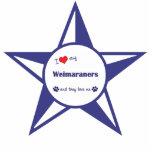 Amo mi Weimaraners (los perros múltiples) Esculturas Fotograficas