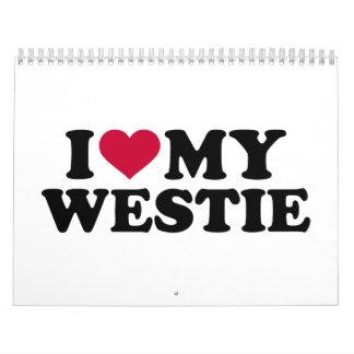Amo mi Westie Calendario