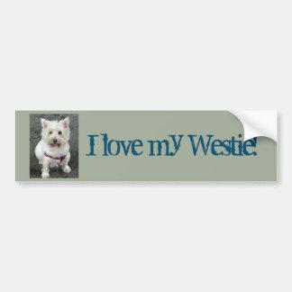 ¡Amo mi Westie!  Pegatina para el parachoques Pegatina Para Auto