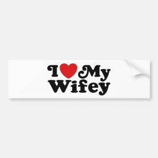 Amo mi Wifey Pegatina Para Auto