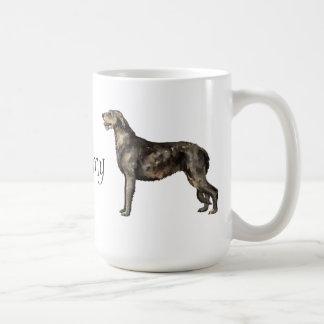 Amo mi Wolfhound irlandés Taza Básica Blanca