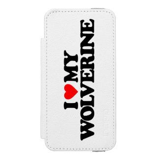 AMO MI WOLVERINE FUNDA BILLETERA PARA iPhone 5 WATSON