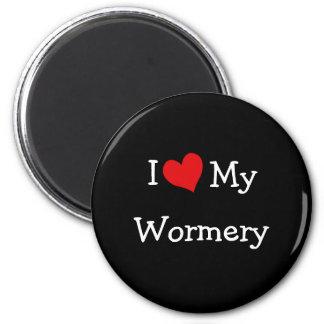 Amo mi Wormery Imán Redondo 5 Cm