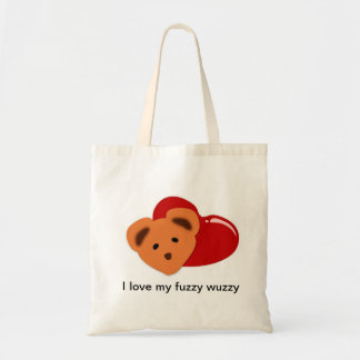 amo mi wuzzy borroso bolsa de mano