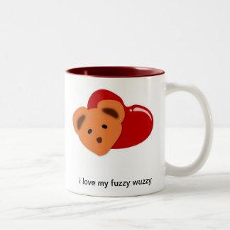 amo mi wuzzy borroso taza de café