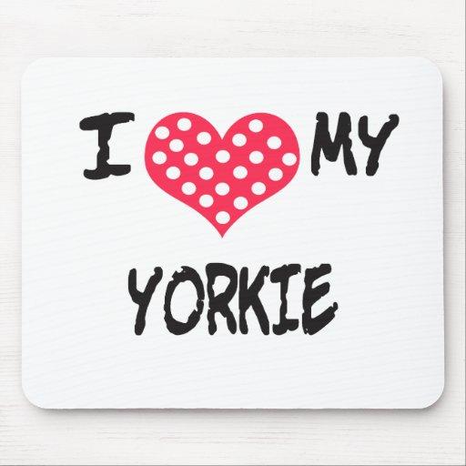 Amo mi Yorkie Alfombrilla De Ratón