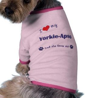 Amo mi Yorkie-Apso el perro femenino Ropa De Perros