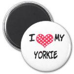 Amo mi Yorkie Imán Para Frigorifico