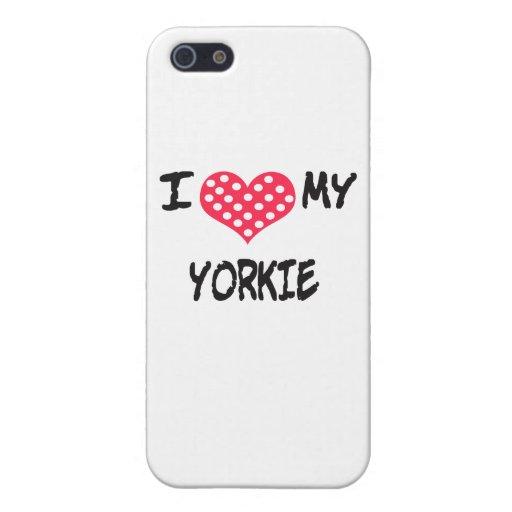 Amo mi Yorkie iPhone 5 Fundas
