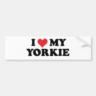 Amo mi Yorkie Pegatina Para Auto