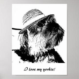 ¡Amo mi yorkie! Poster del valor