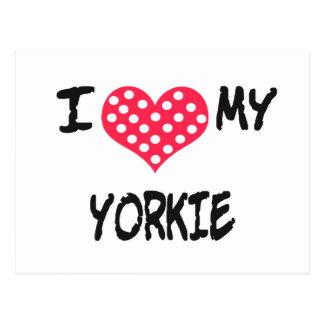Amo mi Yorkie Postales