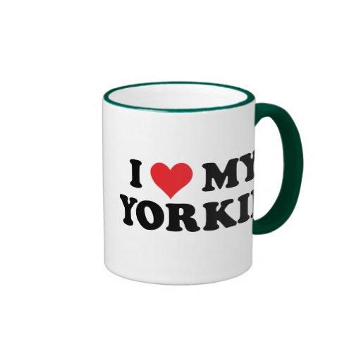 Amo mi Yorkie Taza A Dos Colores