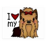 Amo mi Yorkie, Yorkshire Terrier Postales