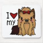Amo mi Yorkie, Yorkshire Terrier Alfombrilla De Ratones
