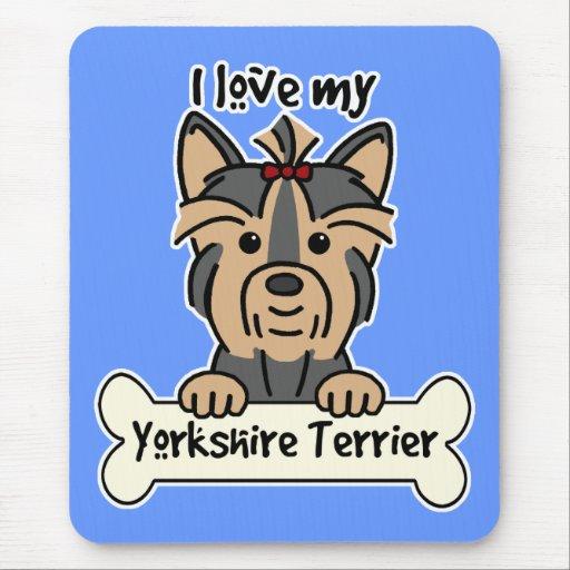 Amo mi Yorkshire Terrier Tapete De Ratones