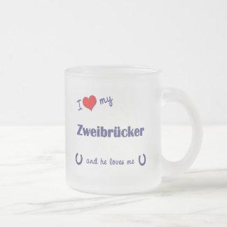 Amo mi Zweibrucker (el caballo masculino) Tazas De Café