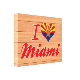 Amo Miami, Arizona Impresion En Lona