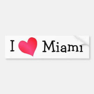Amo Miami Etiqueta De Parachoque