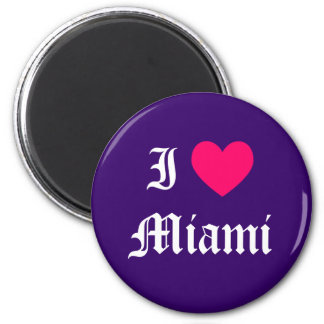Amo Miami Imán Redondo 5 Cm