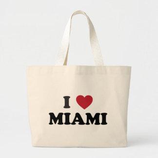 Amo Miami la Florida Bolsa Tela Grande