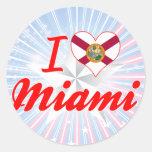 Amo Miami, la Florida Etiqueta Redonda