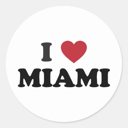 Amo Miami la Florida Etiquetas Redondas