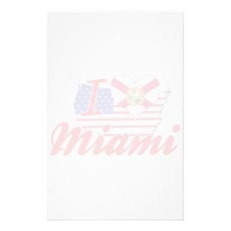 Amo Miami la Florida Papelería
