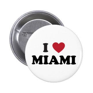 Amo Miami la Florida Pin Redondo 5 Cm
