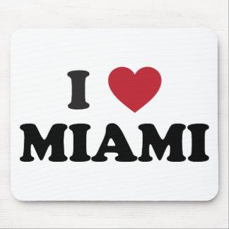Amo Miami la Florida Alfombrillas De Raton