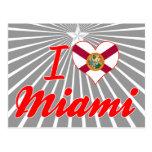 Amo Miami, la Florida Tarjeta Postal