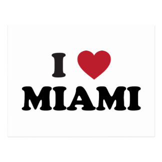 Amo Miami la Florida Tarjeta Postal