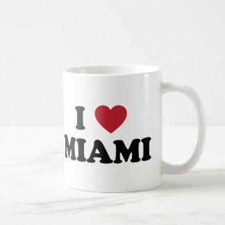 Amo Miami la Florida Taza