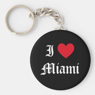 Amo Miami Llavero Redondo Tipo Pin